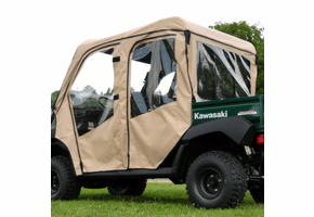 Falcon Ridge Full Cab Enclosure w| Aero-Vent Windshield - Kawasaki Mule 4010 Trans