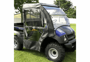Falcon Ridge Full Cab w| Folding Aero-Vent Windshield  - Kawasaki Mule 600 | 610