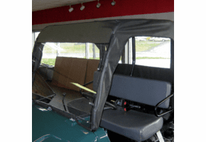 Falcon Ridge Hinged Windshield, Top and Rear Window - Bush Hog Trail Hand 4400