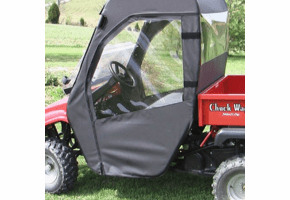 Falcon Ridge Soft Doors and Rear Window - American Sportworks Chuck Wagon
