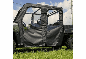 Falcon Ridge Soft Doors and Rear Window - Mid Size Polaris Ranger Crew