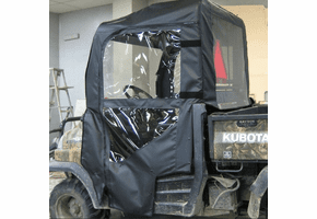 Falcon Ridge Soft Doors, Rear Window and Top |No Windshield| - Kubota RTV