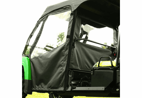 Falcon Ridge Soft Front Doors and Middle Window - 2013-17 John Deere Gator XUV 825i S4 Crew | XUV 855d S4 Crew