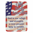 """1-1/8 x 7/8 Inch Gold Enameled Statue of Liberty with American Flag """"Enduring Freedom"""" Pin"""