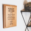 """7 x 9 Inch Engraved """"Irish Blessing"""" Genuine Alder Wood Wall or Table Decor Art"""