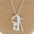 """I Am Blessed"" Charm Pendant Necklace"