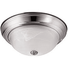Batec B01IX5WX4Y 15 INCH ,3000K LED Ceiling Light Flush Mount Fixtures, Sand Nickel W/Glass Shade