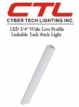 "<b>Cyber Tech</b></br> LED 3/4"" Wide Low Profile, Linkable, Task Stick Under-Cabinet Light</font></u>"