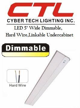 "<b>Cyber Tech</b></br> LED 5"" Wide Dimmable, Hard Wire,Linkable,Under-Cabinet Light (120V)</font></u>"