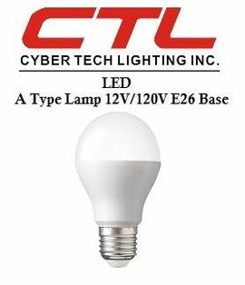 <b>Cyber Tech</b></br> LED A Type Lamp 12V/120V E26 Base Light Bulb</font></u>