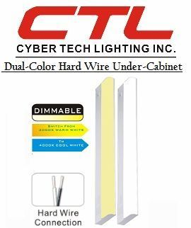 "<b>Cyber Tech</b></br> LED 3.5"" Narrow Dual-Color Hard Wire Under-Cabinet Light (120V)</font></u>"