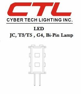 <b>Cyber Tech</b></br> LED JC,T3/T5,G4,Bi-Pin and Lanscape Light  or Undercab Light Bulb</font></u>