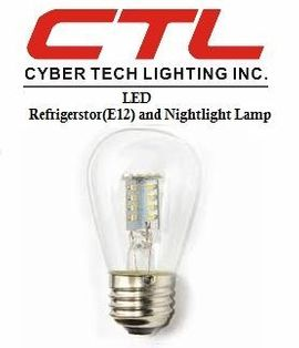 <b>Cyber Tech</b></br> LED Refrigerator E12, Nightlight, G9/120V Light Bulb</font></u>