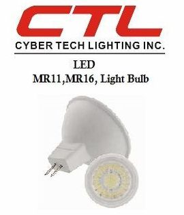 <b>Cyber Tech</b></br> LED MR11, MR16, G5.3 Base, 12V/120V Light Bulb</font></u>