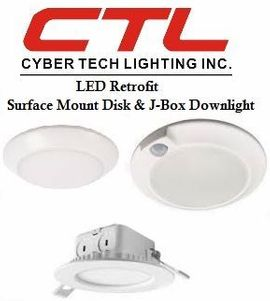 <b>Cyber Tech</b></br> LED Retrofit Surface Mount Disck And J-Box Downlight</font></u>