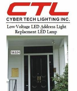 <b>Cyber Tech</b></br> Low Voltage LED Address Light & Replacmnet LED Lamp</font></u>