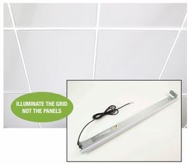 "GM Lighting TGB-4-40-G1 4' GridTask LED  for 15/16"" std. grid, 20W,2600Lum,40K,Frosted White"