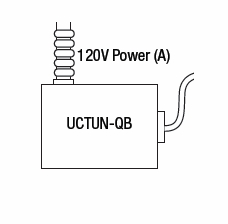 GM Lighting UCTUN-QB-B Quick-Box wiring junction box with EZ connectors and knock-outs, Black