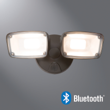Halo Home FTS20CB Twin Head LED Flood with Bluetooth Mesh Connectivity, CCT Adjustable Range from 3000K-5000K,Bronze