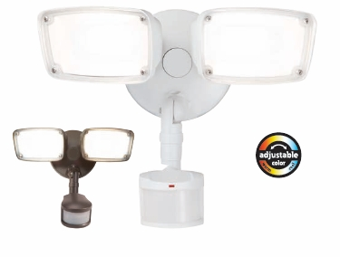Halo Home MST20C18B Twin Head LED Motion with Bluetooth Mesh Connectivity,CCT Adjustable Range from 3000K-5000K,Bronze