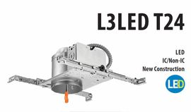 "Litonia L3LED T24 4"" New Construction LED Housing"