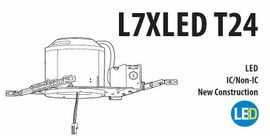 "Litonia L7XLED T24 R6 6"" New Construction LED Housing"