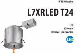 "Litonia L7XRLED T24 R6  6"" Remodel LED Housing"