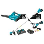 Makita Cordless Stringtrimmer & Blower Combo Kit with FREE CORDLESS GRINDER
