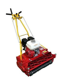 """New 20"""" 7-Blade Reel Mower with Adjustable GROOVED ROLLER"""