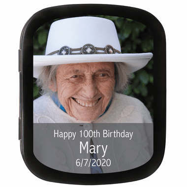 100th Birthday Party Favors Photo Mint Tins