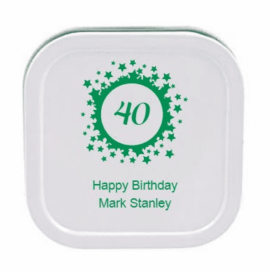 40th Birthday Travel Candles