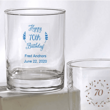 70th Birthday Rocks Glasses