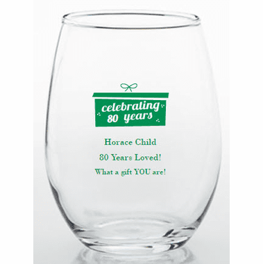 80th Birthday Party Favor Glasses