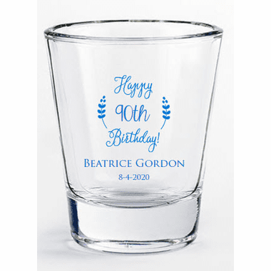 90th Birthday Shot Glasses