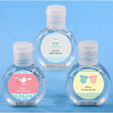 Baby Shower Hand Sanitizer Party Favors 2 oz - In Stock - You apply labels