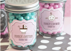 Baptism Glass Jars
