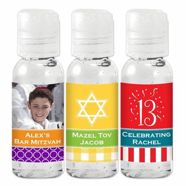 Bar Mitzvah Hand Sanitizer Favors