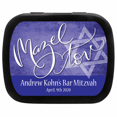Bat Mitzvah Favor Mint Tin Mazel Tov