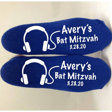 Bat Mitzvah Music Dance Socks