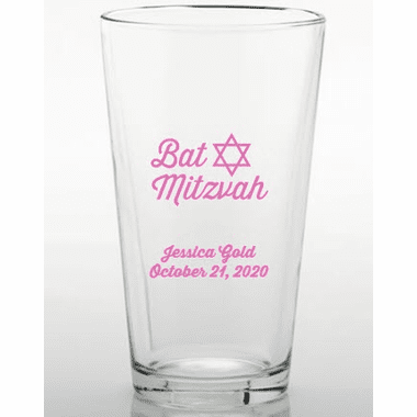 Bat Mitzvah Personalized Glasses