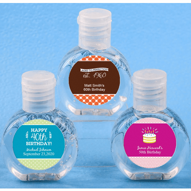 Birthday Hand Sanitizer Favors - In Stock - 2 oz -  You apply labels