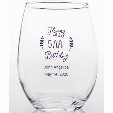 Birthday Wine Glasses 15 oz