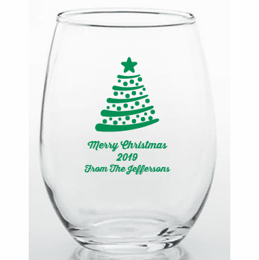 Christmas Favor Glassware Personalized Trinket Holder