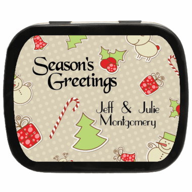 Christmas Gift Favors Personalized Candy Tins
