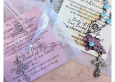 Communion Mini Rosary Favors & Remembrance Cards