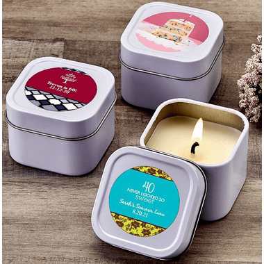 Custom Mini Candles - You apply stickers