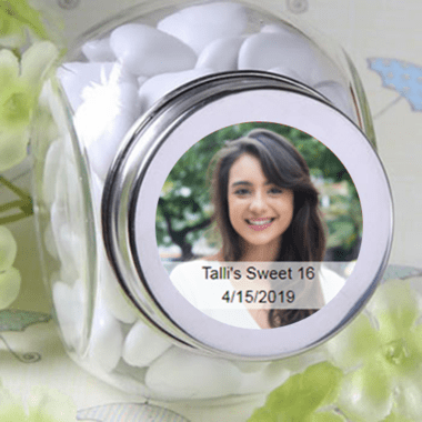 Mini Custom Candy Jars - Photo Label Sheet Separate