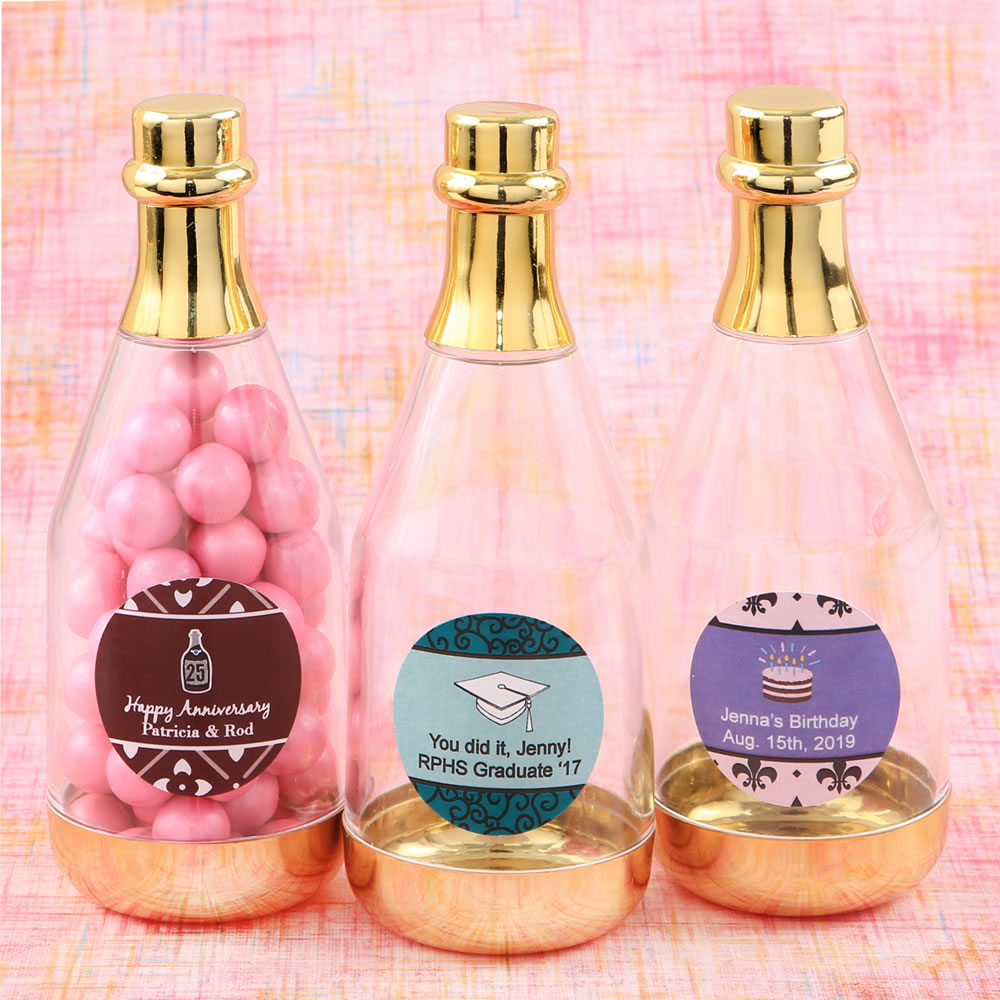 Custom Mini Plastic Champagne Bottle - You Apply Label
