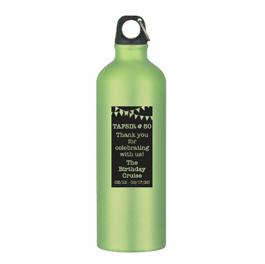 Custom Water Bottles for 50th Birthday