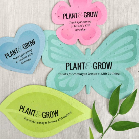 Eco Friendly Seed Paper Favors